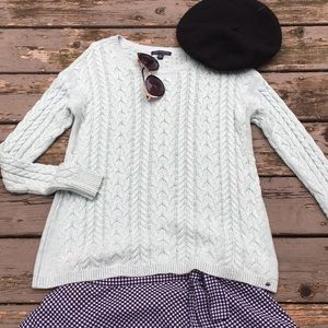 AEO}• mint cable knit sweater